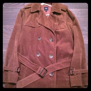 GAP Brown Corduroy Peacoat